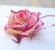 2017 Pêssego Rosa Big Rose Flor Headbands Mulheres Acessórios Para o Cabelo Das Meninas Headwear Barrettes Grampos de cabelo Feminino Mulher Ornamento Do Cabelo