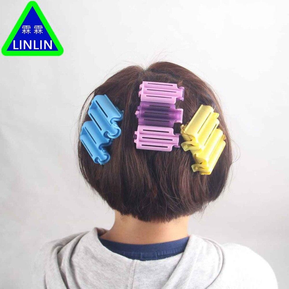 LINLIN 60 teile/beutel Haar Clip Welle Dauerwelle Stange Bars Mais Curler DIY Wurzeln Preming Flauschigen Friseur Styling Massage & Entspannung - 6
