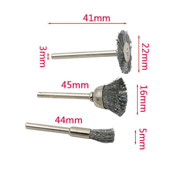 12 PCS Công Cụ Mài Mòn Set Rotary Công Cụ Mill Cutter Giấy Sander Dây Bàn Chải Đánh Bóng Đầu Mài Phụ Kiện sử dụng cho Dremel