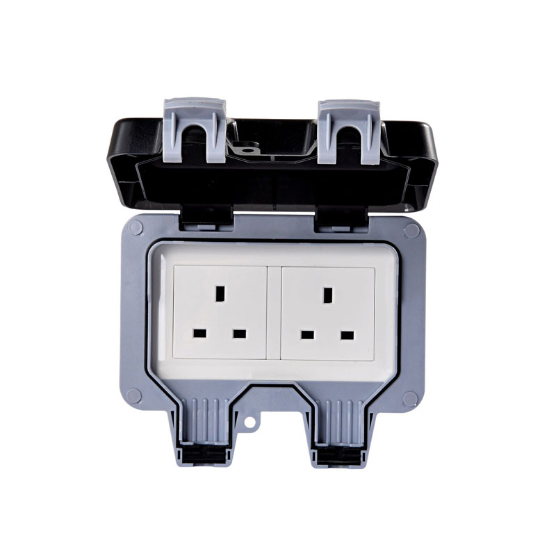 Double Uk Standard Electrical Power Sockets Outlet