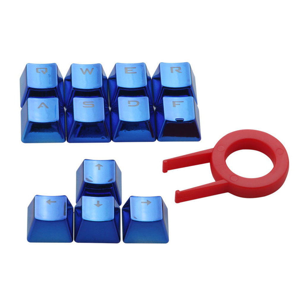12 Keys PBT Backlit Translucent Metallic Electroplated Keycaps For Cherry MX Keyboard Keycaps With Key Puller  416#2