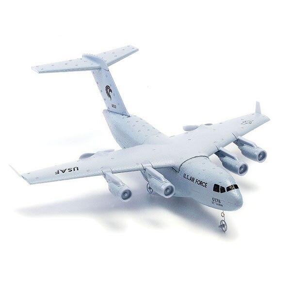 Avión Rc juguetes aviones Kit C-17 transporte bombardero 373mm envergadura del PPE DIY Mini RTF volando niños RC avión cielo de aeromodelismo