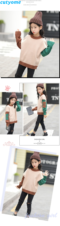 teenage girls patchwork sweater04