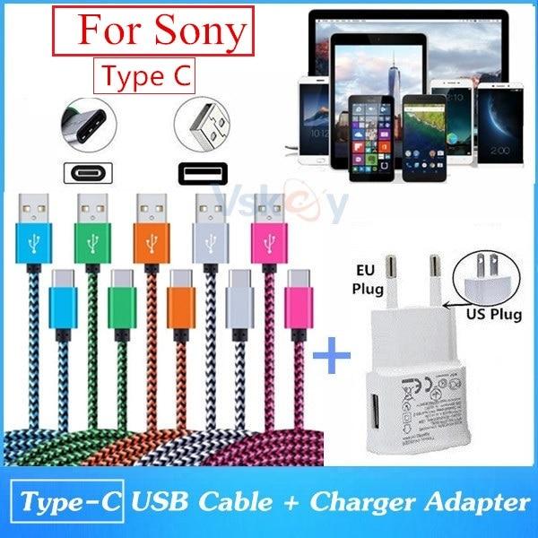 Tipo C USB Cargador Cable de datos para SONY XPERIA XZ//Compacto//L1//XA1 X//XZ Premium