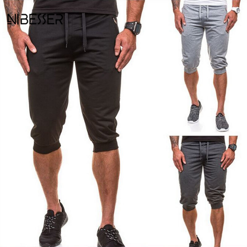 NIBESSER Men Side With Pocket Shorts Trousers Zipper Design Shorts Fitness Soft Short Pants Male Quick Dry Cool Trunks 2018