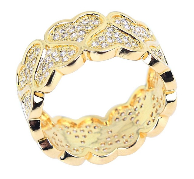 New arrival jewelry 2014 Latest Design Hearts Pattern Wedding Rings