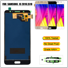 Brightness Adjustbale LCD Display for Samsung J5 2016 J510 J510FN J510F J510G J510Y J510M LCD Touch Screen Digitizer Assembly aaa quality j510 lcd for samsung galaxy j5 2016 lcd j510fn j510f j510g j510y j510 display touch screen digitizer assembly