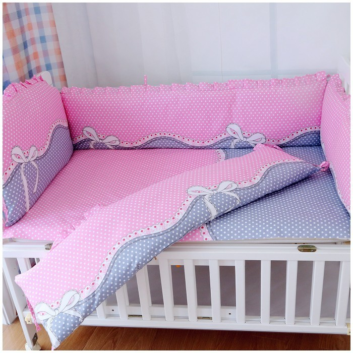 6pcs Baby Bedding Set Cartoon Cot Bed Linen Crib Newborn Gift Include Per Sheet Pillowcase In Sets From Mother Kids On