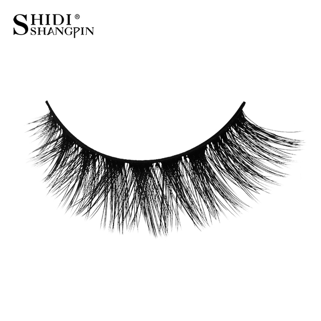 SHIDISHANGPIN 3d mink eyelashes hand made makeup false eyelashes natural long eyelash extension 1 box 3 pairs eyelash X08 3