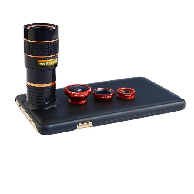 2017 lentes da câmera do telefone capas para iphone 4 4s 5 5s 6 6 s 7 além 8x zoom telescope lens 3in1 fisheye wide angle lens macro + clips
