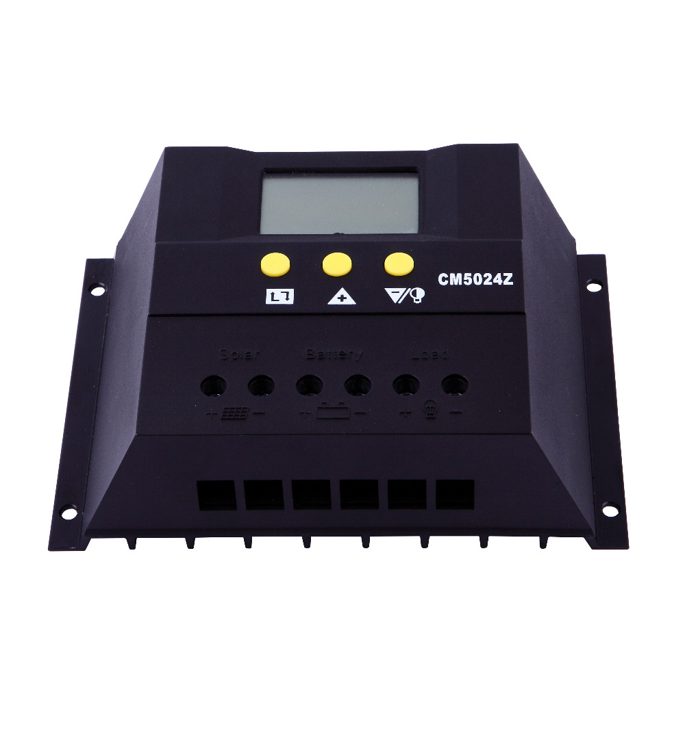 Free Shipping 60A 12V/24V Auto Sense LCD Display solar system manual PWM Solar Charge Controller
