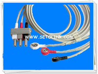HP12PIN 3 LEADS ECG CABLE AHA STANDARD
