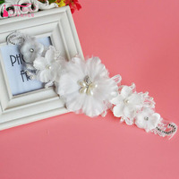 Lace Flower White Bridal Hair Decoration Elegant Headwear Wedding Accessories Cheap In stock ZH018