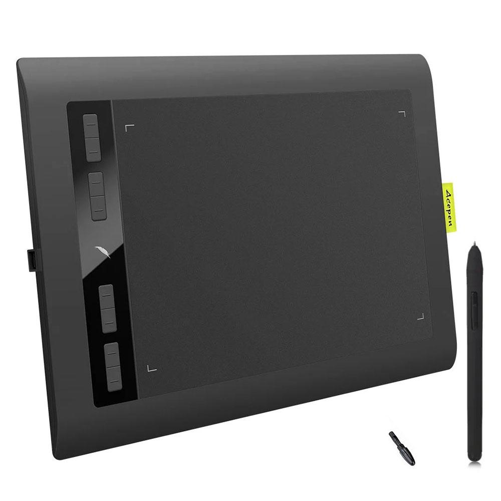 Acepen AP1060 10x6 pouces tablette graphique intelligente tablette numérique 5080LPI avec 2048 stylo de dessin numérique de niveau pour la conception de bureau - 6