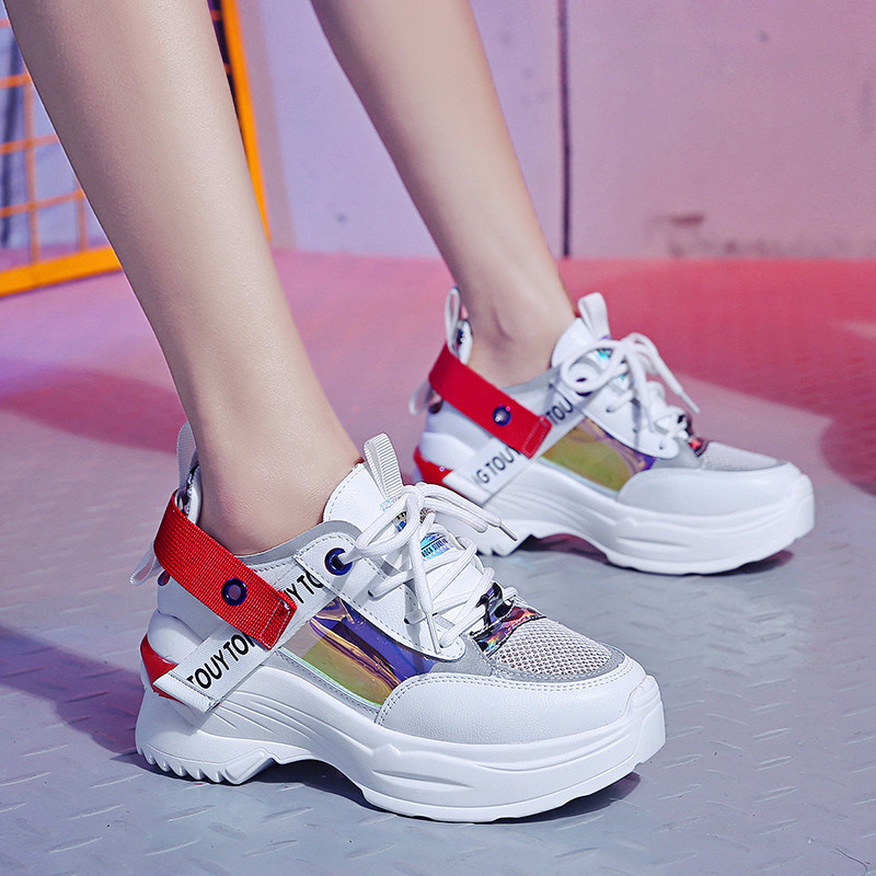 Lady Sport Womens Light Sneakers Breathable Mesh Casual Shoes Walking Outdoor Running Shoes Fashion Leisure Elegant Soft Wild Tight Super Quality for Womens