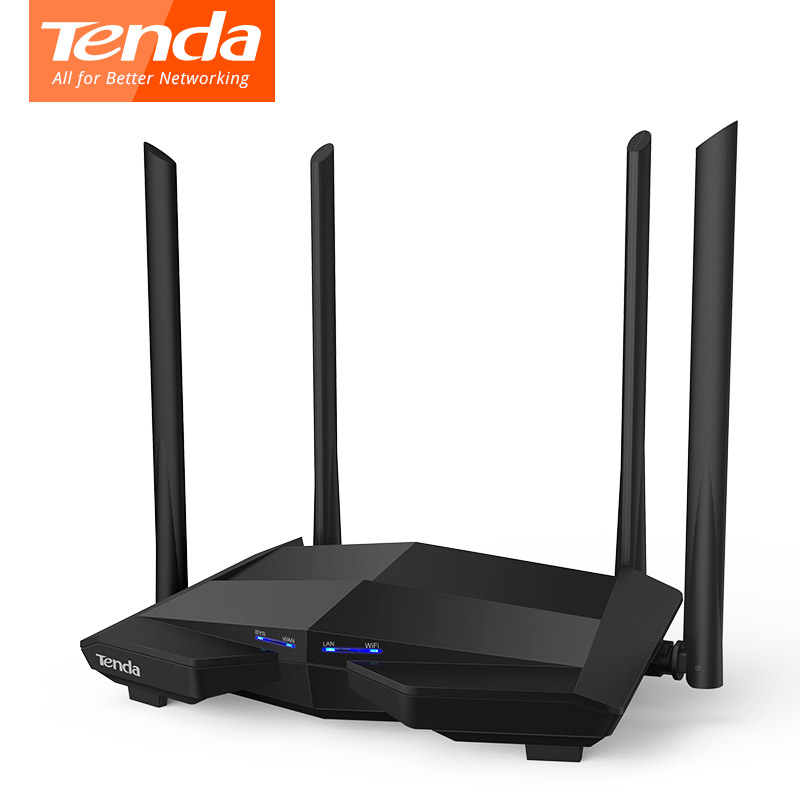 Tenda AC10 AC1200 Dual Band 2.4G/5G Wireless Wifi Router 1000Mbps Gigabit Repeater 802.11AC Smart APP Manage English Firmware