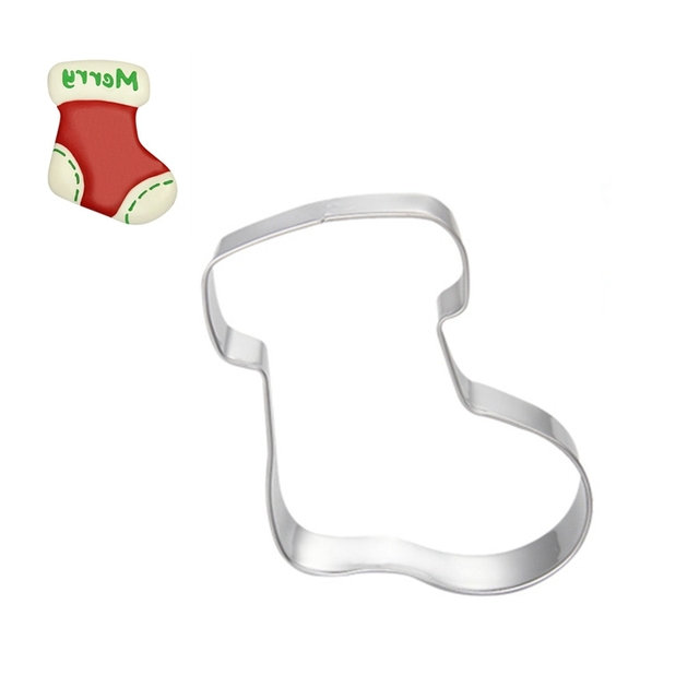 Gift Sock Cake Stencil Cupcake Decoration Template Mold Cookie Coffee Fondant Baking