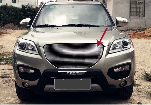 High quality 304 stainless steel Front Grille Around Trim Racing Grills Trim For LIFAN X60 2012-2013 Car styling racing grills version aluminum alloy car styling refit grille air intake grid radiator grill for kla k5 2012 14