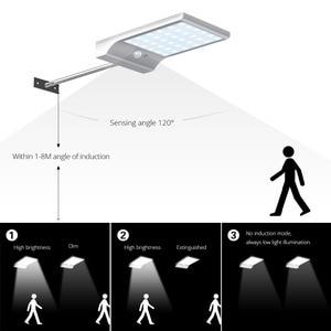 Image 3 - LED Năng Lượng Mặt Trời Ánh Sáng 36 đèn led PIR Cảm Biến Chuyển Động ánh sáng ban đêm Ngoài Trời Không Thấm Nước ánh sáng Đường Phố Vườn An Ninh Tường Đèn với gắn rod