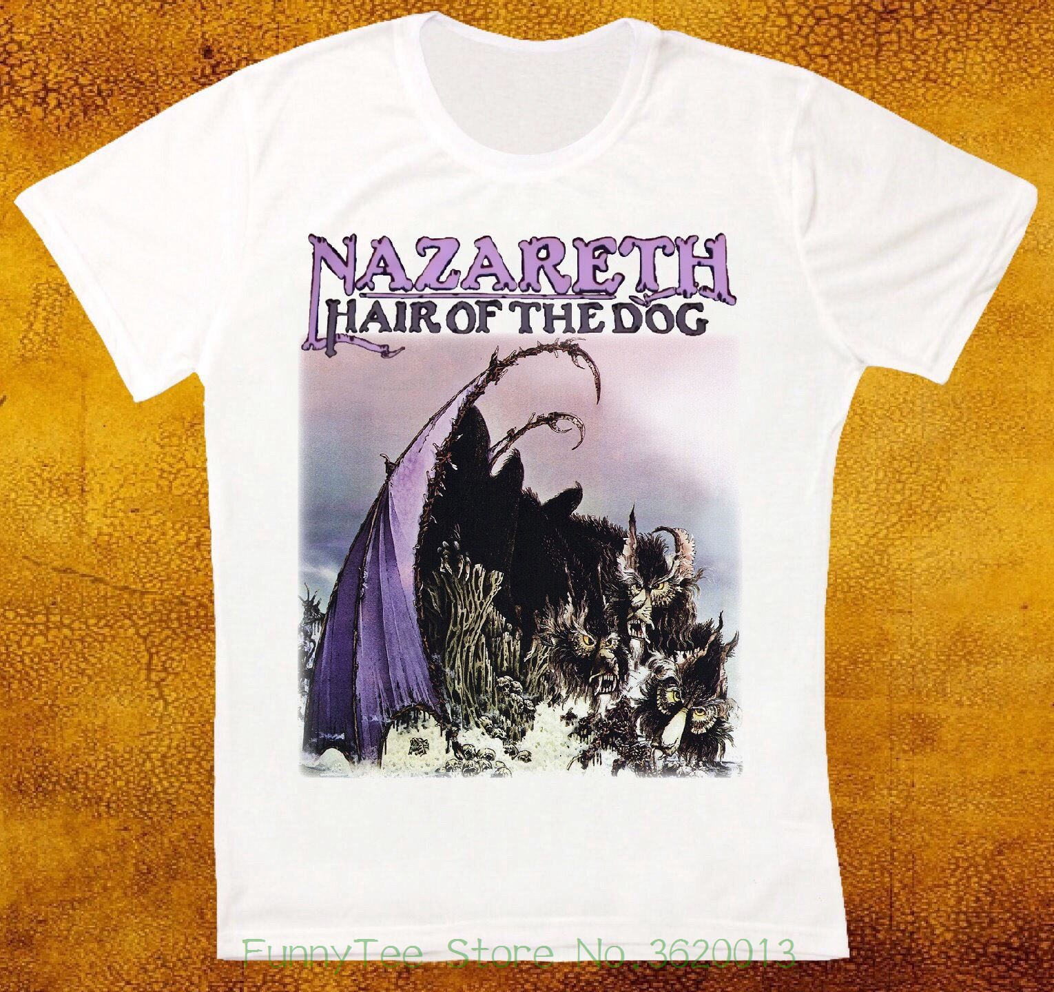 Nazareth Hair Of The Dog Hard Rock Deep Purple Uriah Heep Unisex T Shirt 654 ...