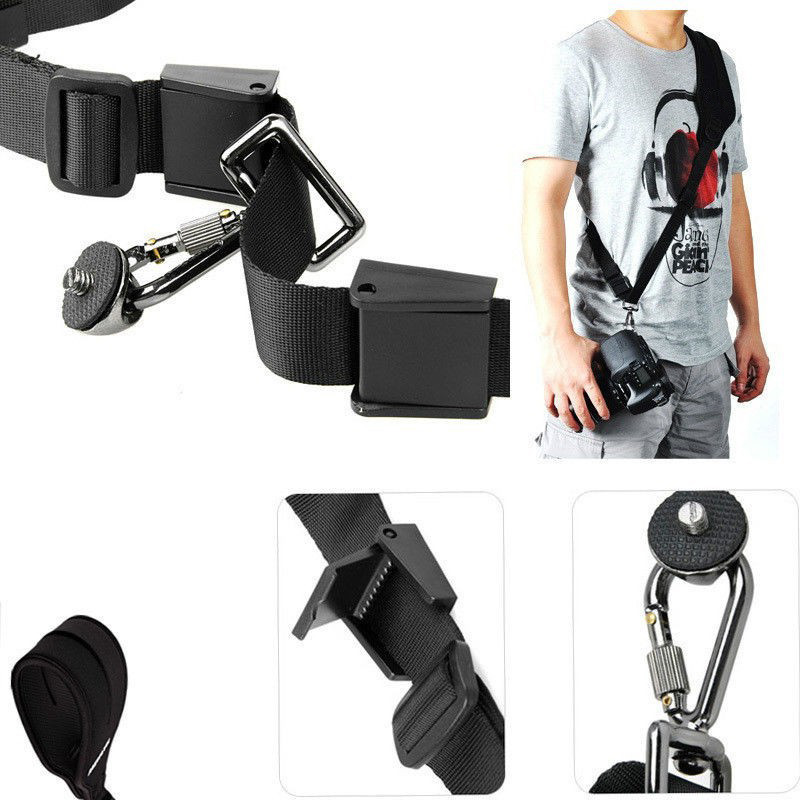 Photo DSLR Black Camera Rapid Shoulder Neck Strap Belt Sling Soft Padded Strap Holder  For Canon Sony Nikon Panasonic SLR