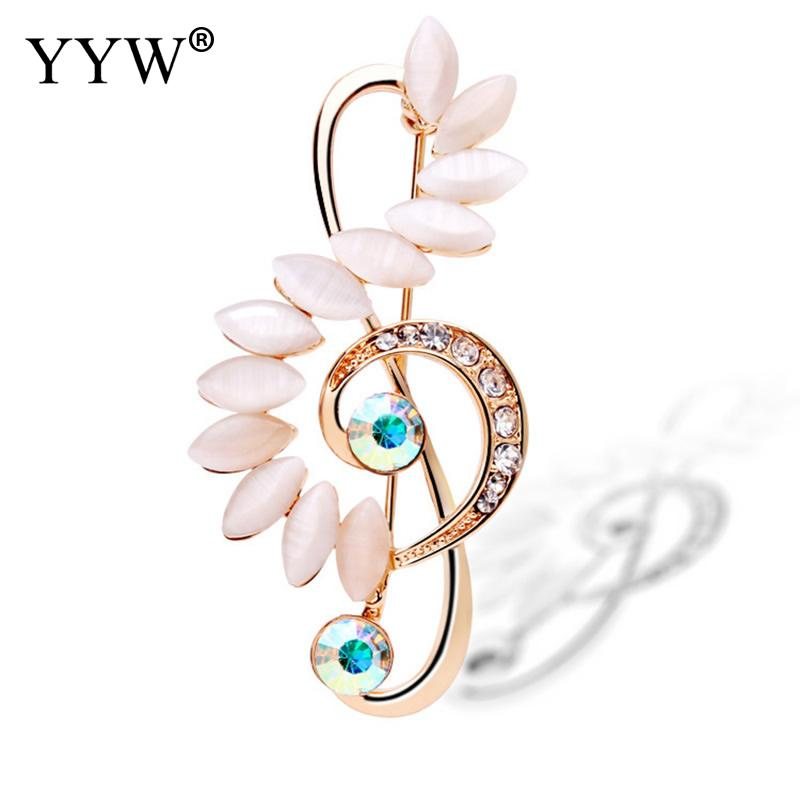YYW 2017 Cats Eye Brooches Pin Women Jewelry For Women Suit Hats Clips Corsages Brand Bijoux Brooch Bijouterie For Women