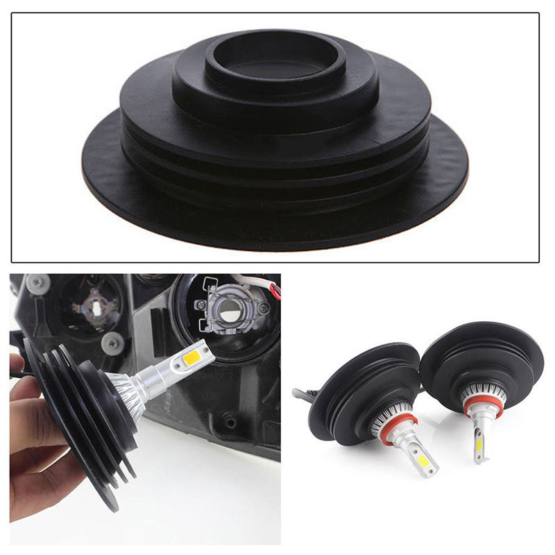 Headlight Dust Seal Cover Rubber Housing Cap for HID LED Conversion Applicable