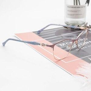 Image 5 - Donne in metallo Occhiali Da Vista Cornice di Piazza Occhiali Cornice per la Miopia 2019 di Modo di Lavanda di Colore per Le Donne