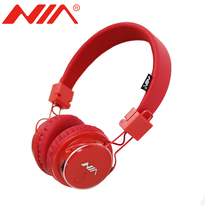 NIA Q8 Original Wireless Bluetooth Headphone Multifunctional Foldable Stereo Headsets with Mic Support TF Card FM Radio nia 1682s original stereo headphones 10 colors collapsible music player portable headset support tf card fm radio free shipping