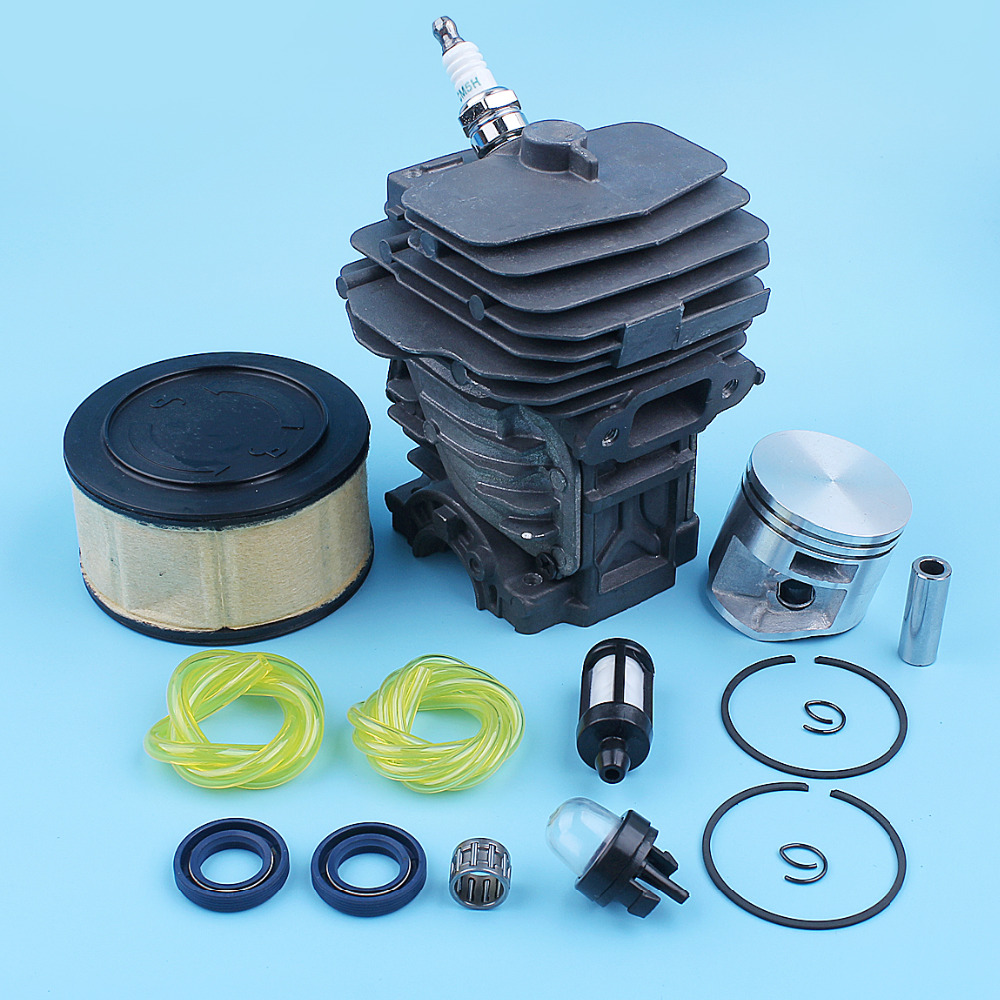 44mm Nikasil Plated Cylinder Piston Air Filter Primer Bulb For Stihl MS251 MS 251 Chainsaw Oil Seal Bearing Kit 1143 020 1207