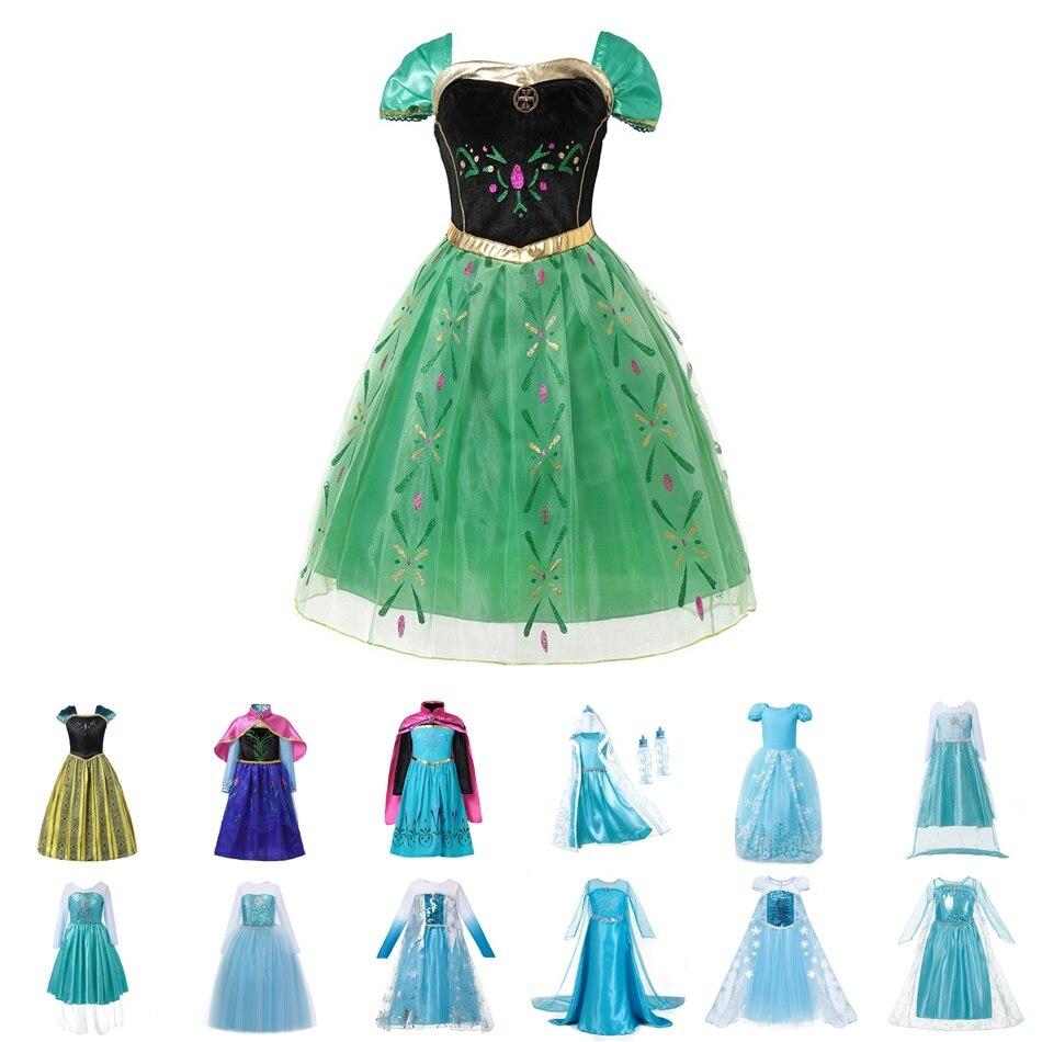 01e8e8645 MUABABY Niñas Elsa Anna princesa vestir niños florales cuento de hadas  Cenicienta cosplay traje de ...