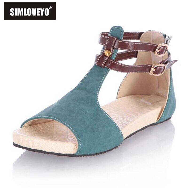 Simloveyo Woman Sandals Soft Open Toe Ankle Strap Sandals