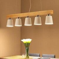 Nordic деревянные подвесные светильники металла абажур подвесной светильник для гостиной столовой Кухня Бар подвесной светильник e27 droplight