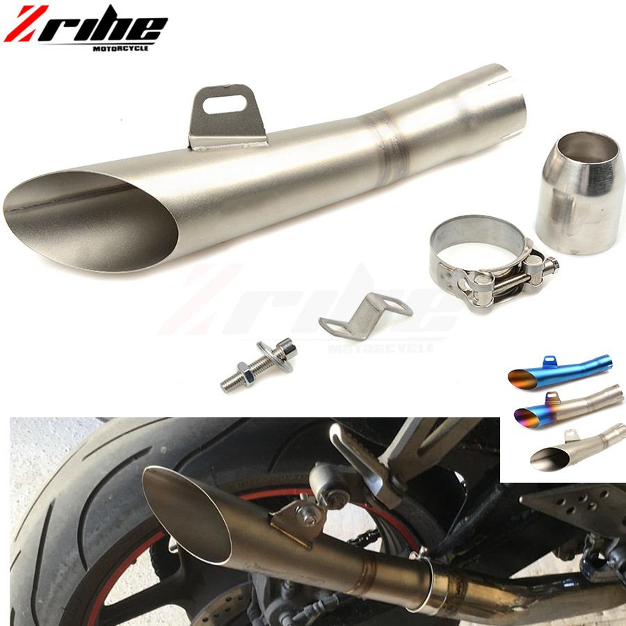 for 36-51MM Universal Motorcycle Exhaust Modified Pipe Slip-on Motorbike Exhaust Pipes For Yamaha FZ6 FAZER FZ6R FZ8 FZ1 FAZER X for universal 36 51mm motorcycle accessories cnc exhaust stainless steel motorbike exhaust pipe for yamaha fz6 fazer fz6r fz8 mt