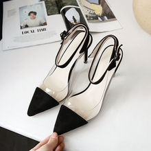 YANSHENGXIN Transparent Patchwork Women's Summer Shoes Fashion High Heels Sandals Female Footwear Women Pointed Toe Pumps Shoes wetkiss wood high heels women summer sandals pointed toe footwear genuine leather sandals shoes new fashion office female shoes