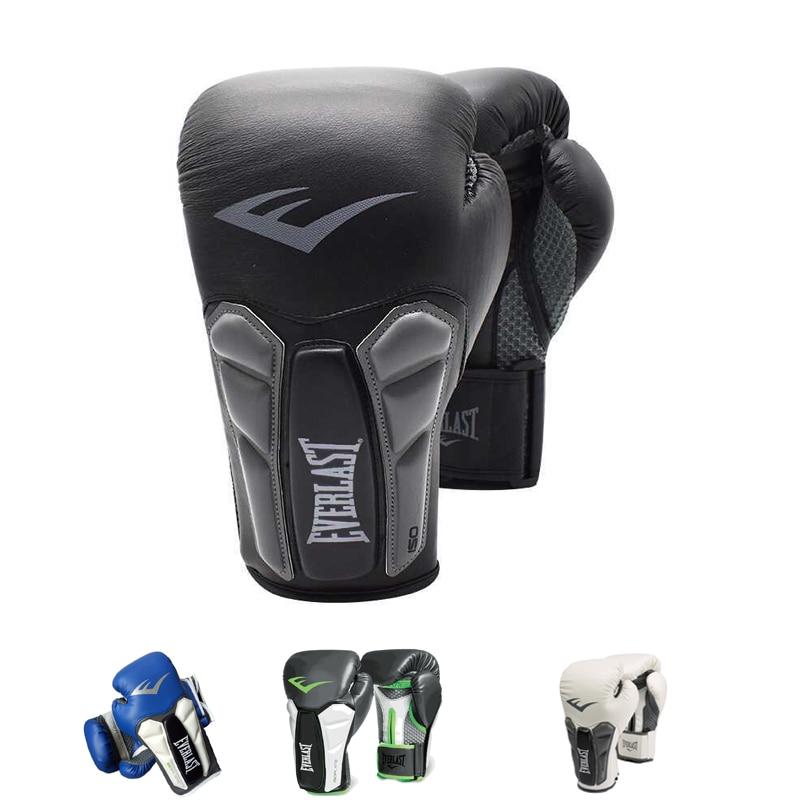 Top Quality Adults Women Men Boxing Gloves Leather MMA Muay Thai Boxe De Luva Mitts Sanda