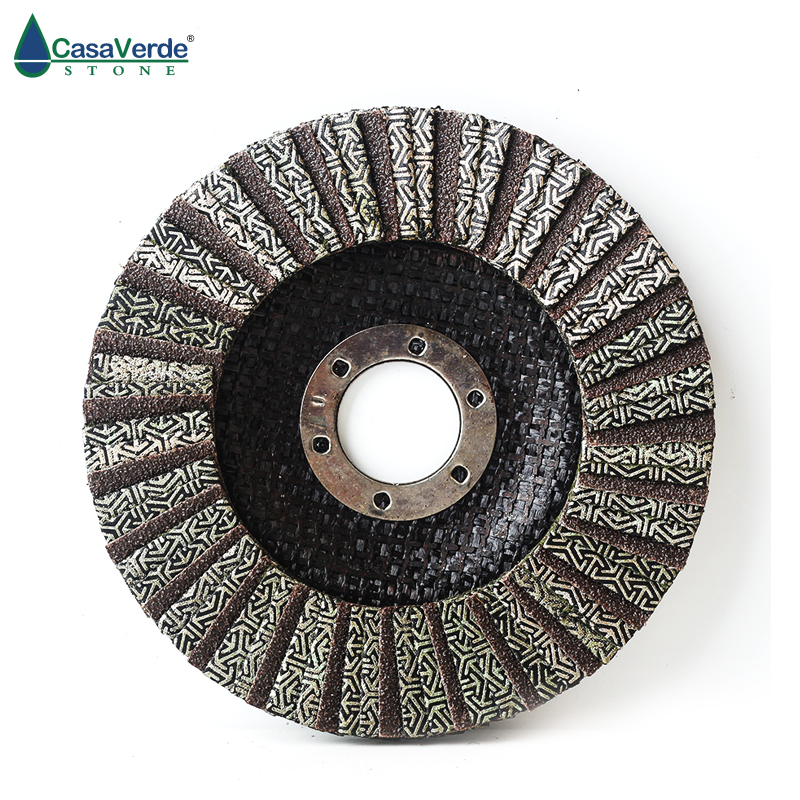 4.5 Inch 115mm Electroplated Flap Disc Polishing Wheels Diamond Electroplated Abrasive Disc For Grinder Dry Wet Flap Disc