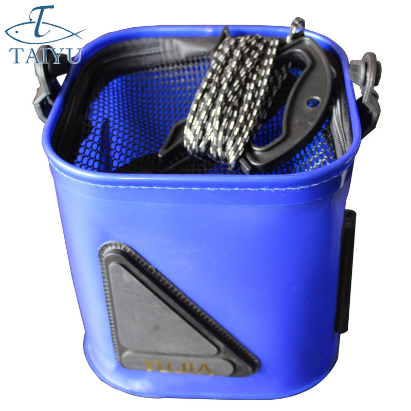 20 센치 메터 고품질 두꺼운 접는 라이브 물고기 상자 플라스틱 잉어 버킷 물 탱크 핸들 가방 낚시 태클 액세서리