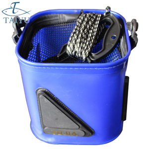 20cm High Quality Thick Folding Live Fish BOX Plastic Carp Rod Bucket Water Tank With Handle Bags Fishing Tackle Accessories