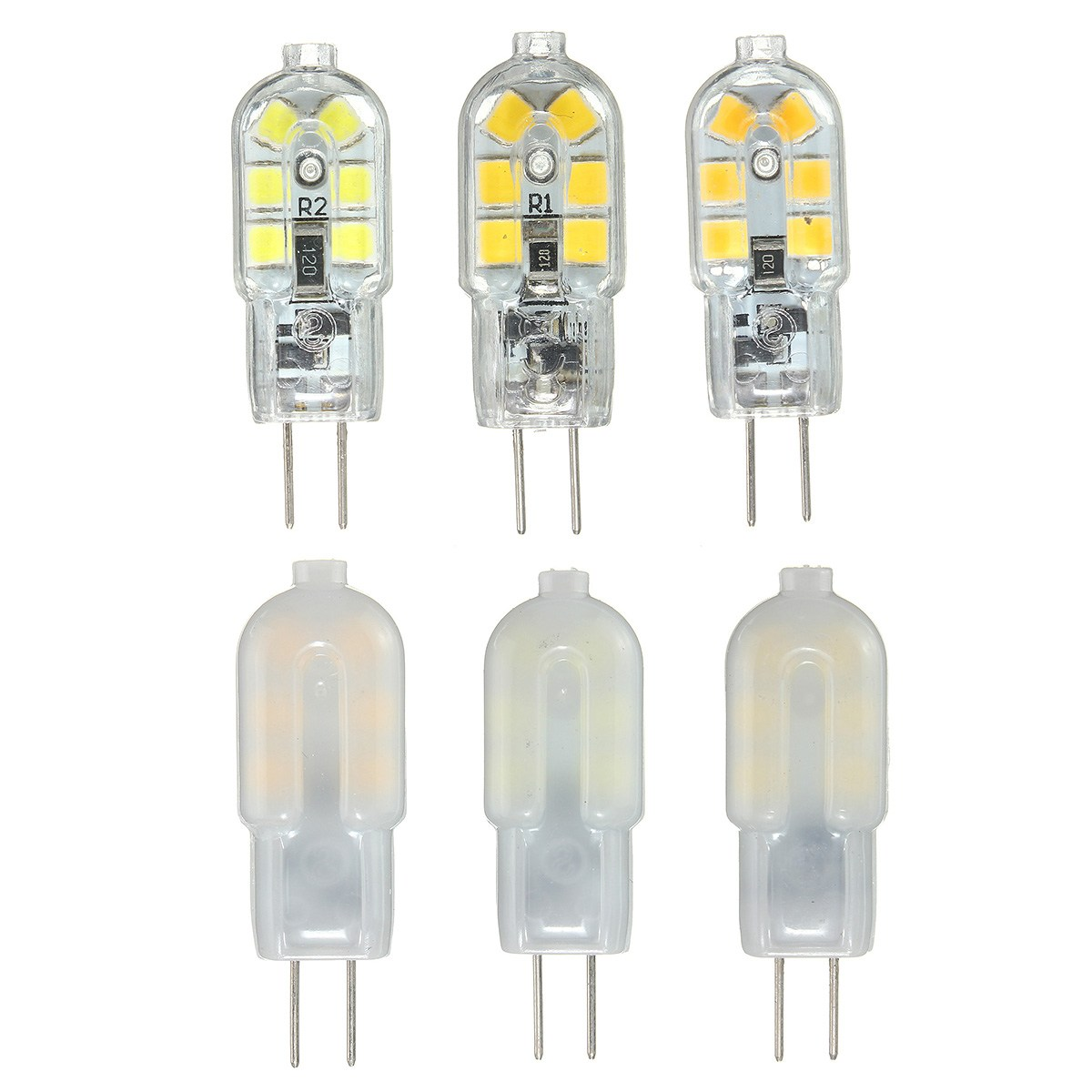 Smuxi 10PCS G4 LED Lamp 3W G4 LED Bulb 12V Mini G4 LED Light 360 Beam Angle Replace Halogen Lamp Chandelier Lights