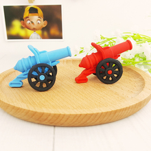 1X  Kawaii Cartoon cannon Decoration model eraser Eraser Rubber Stationery Kid Gift Toy Cute Pupils school office stationery