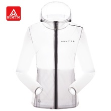 Humtto Солнцезащитный Женский Летний солнцезащитный крем Сверхлегкий водоотталкивающий с капюшоном мужская куртка UPF 40 +