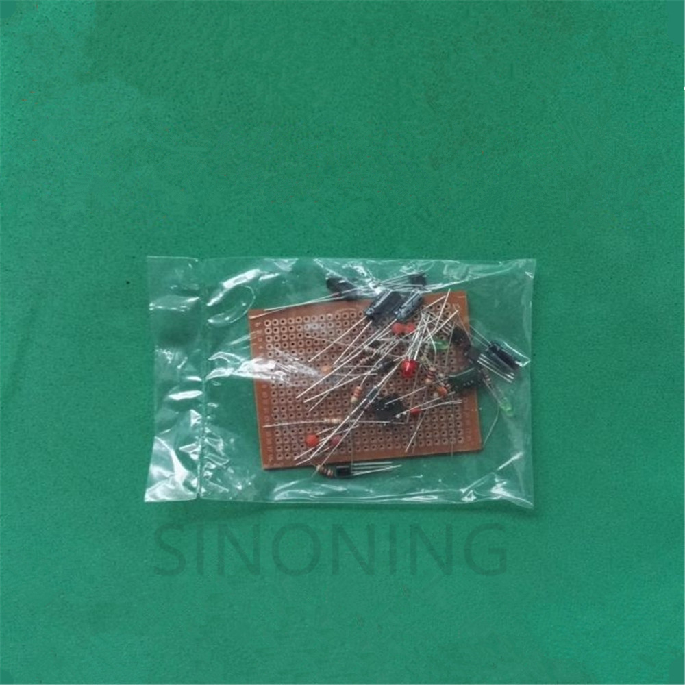 Electronic novice recognition and welding suite DIY training component PCB board