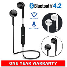 Wireless Bluetooth 4.2 Headset Earbuds Sport Earphone With Microphone Handfree f