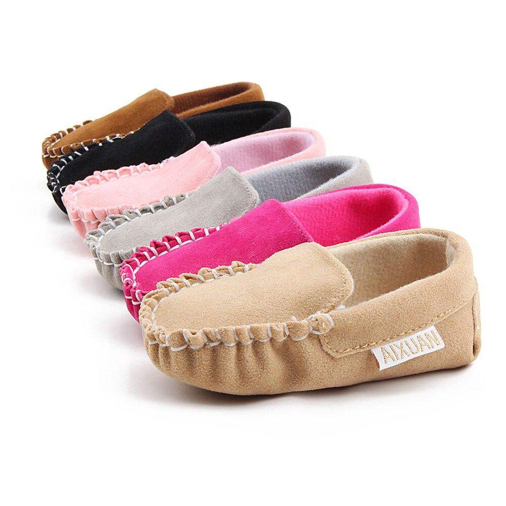 Fashion Toddler Girl Infant Solid Color Soft Slip On Flat Loafer Baby Boat Shoes