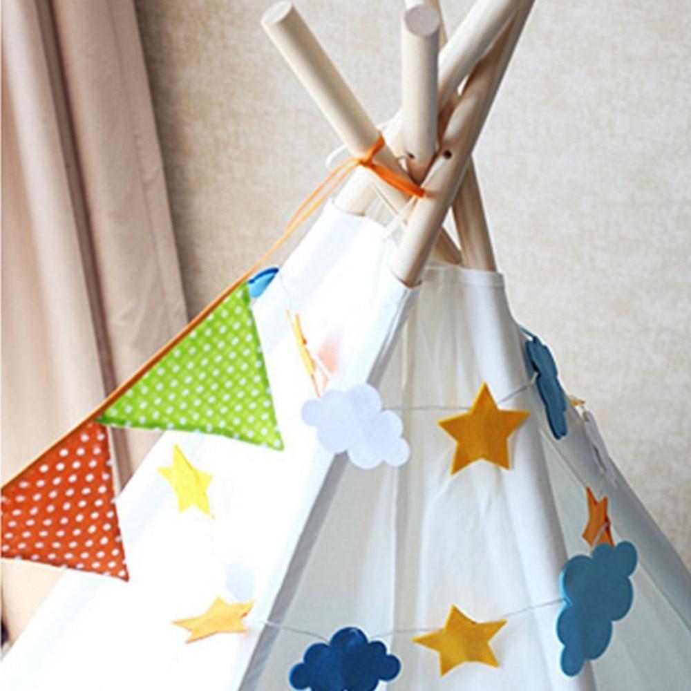 Beautiful Star Moon Sun Decorative Light Kawaii Cartoon Design Children Bedroom Tents Party LED Fantasy String Light