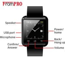 FROMPRO Bluetooth U8 Reloj Inteligente Reloj de pulsera Relojes Deportivos U80 Mensaje Recordatorio de Llamada SMS Sync para Teléfono smartwatch con Podómetro