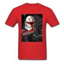 Tshirt Star Wars Man T Shirt Captain Rex Mens T-shirts Droid Pilot Tours Tops Clone Trooper Tees Bounty Hunter