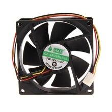 3 Pin 80mm 25mm cooler 12 V PC CPU Cooling Fan Heatsinks Radiator For Desktop Computer CPU Cooling Fan