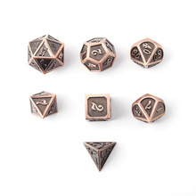 New Font Dragon and Dungeon 7 Pieces / Creative D20 10 6 8 12  Role Playing Dice D&D Metal Dice Set Brown Digitale Dobbel цены онлайн